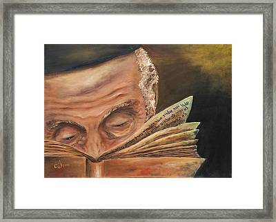 This Book Of The Law Shall Not Depart Out Of Thy Mouth Framed Print by Music of the Heart