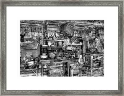 Stuff For Sale Bw Framed Print by Mel Steinhauer