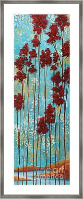 Stunning Abstract Landscape Elegant Trees Floating Dreams I By Megan Duncanson Framed Print by Megan Duncanson