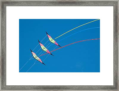 Stunt Kite At The Windscape Kite Festival 2011 Framed Print by Rob Huntley