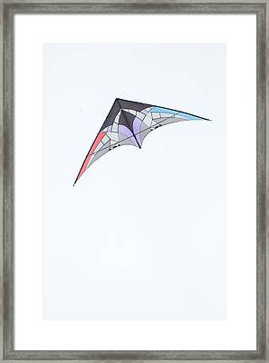 Stunt Kite Windscape Kite Festival 2011 Framed Print by Rob Huntley
