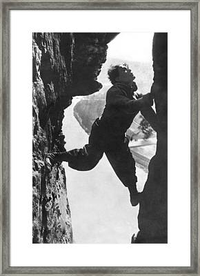 Stuntman Luciano Albertini Framed Print by Underwood Archives