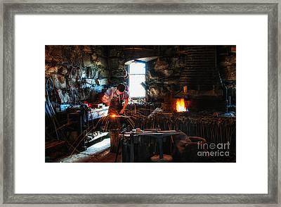Sturbridge Village Blacksmith Framed Print by Scott Thorp