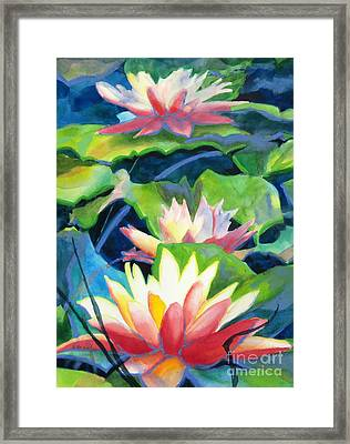 Styalized Lily Pads 3 Framed Print by Kathy Braud