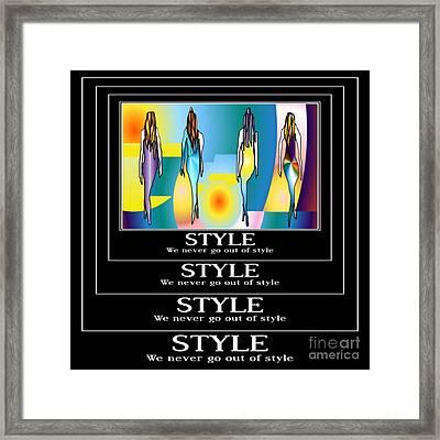 Style Framed Print by Kim Peto