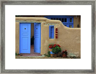 Styling In Taos Framed Print by Bob Christopher
