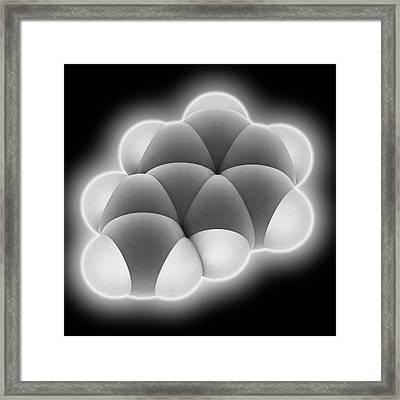 Styrene Molecule Framed Print by Laguna Design