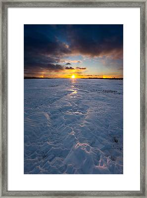 Sub-zero Sunset Framed Print by Aaron J Groen