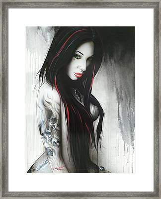 'subliminal II' Framed Print by Christian Chapman Art