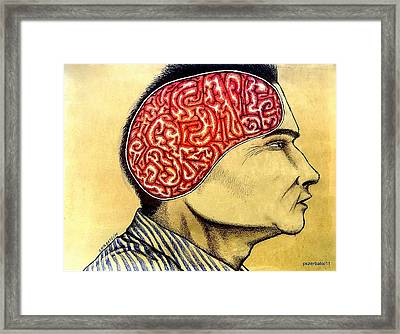 Subliminal Messages For Alienation Framed Print by Paulo Zerbato
