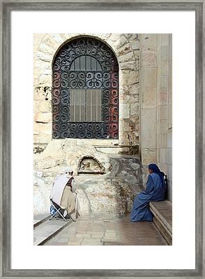 Submission Framed Print by Munir Alawi