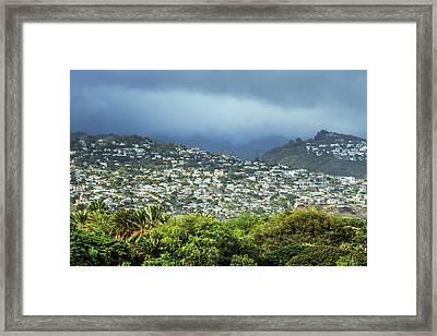 Suburb Of Honolulu Framed Print by Babak Tafreshi