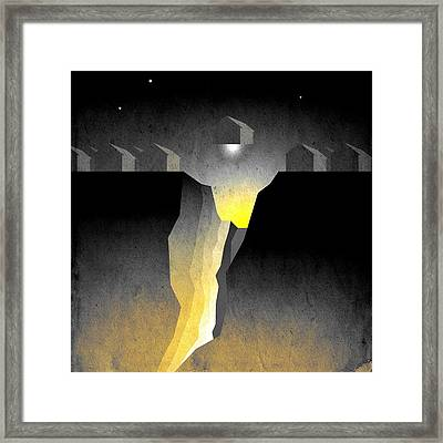 Suburban Fracture  Framed Print by Milton Thompson