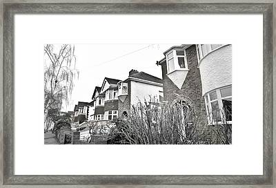 Suburban Houses Framed Print by Tom Gowanlock