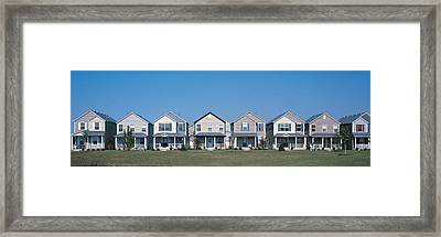 Suburban Housing Development Joliet Il Framed Print by Panoramic Images