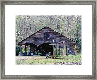 Suburban Shed Framed Print by Laura Ragland