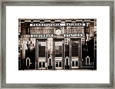 Suburban Station Framed Print by Olivier Le Queinec