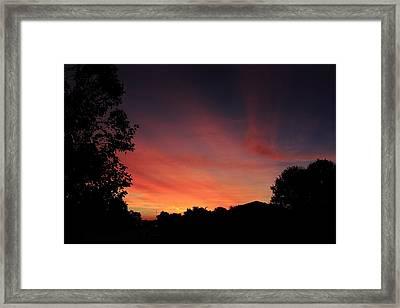 Suburban Sunrise Framed Print by Andrea Kappler