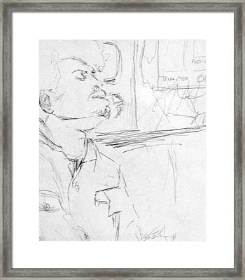 Subway Commuter Framed Print by Phil Welsher