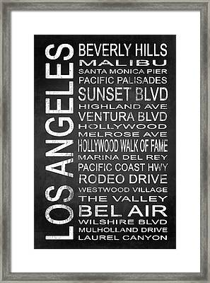 Subway Los Angeles 2 Framed Print by Melissa Smith