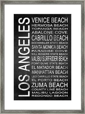 Subway Los Angeles 3 Framed Print by Melissa Smith