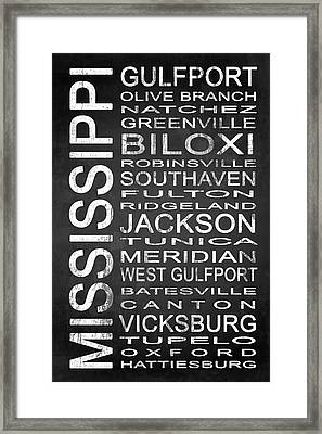 Subway Mississippi State 1 Framed Print by Melissa Smith