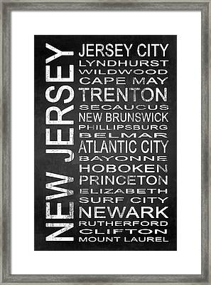 Subway New Jersey State 1 Framed Print by Melissa Smith