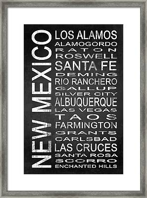 Subway New Mexico State 1 Framed Print by Melissa Smith
