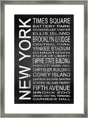 Subway New York 1 Framed Print by Melissa Smith