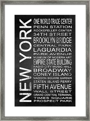 Subway New York 3 Framed Print by Melissa Smith