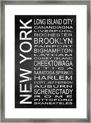 Subway New York State 3 Framed Print by Melissa Smith