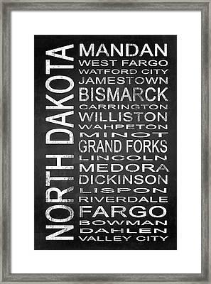 Subway North Dakota State 1 Framed Print by Melissa Smith