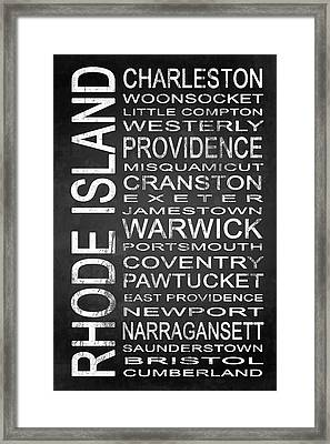 Subway Rhode Island State 1 Framed Print by Melissa Smith
