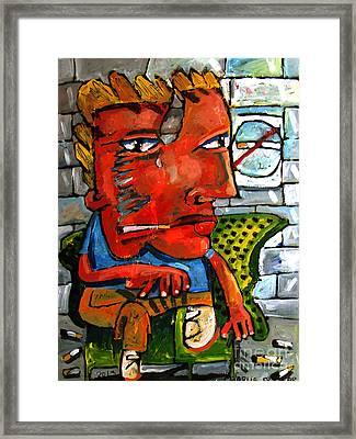 Subway Stoker Sam Framed Print by Charlie Spear