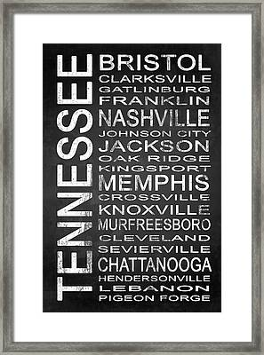 Subway Tennessee State 1 Framed Print by Melissa Smith