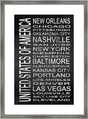 Subway United States 2 Framed Print by Melissa Smith
