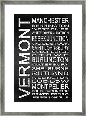 Subway Vermont State 1 Framed Print by Melissa Smith