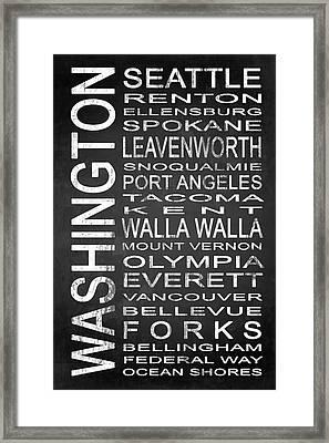 Subway Washington State 1 Framed Print by Melissa Smith
