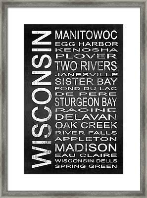 Subway Wisconsin State 1 Framed Print by Melissa Smith