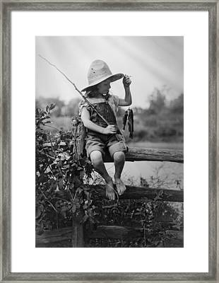 Successful Day Of Fishing  1919 Framed Print by Daniel Hagerman