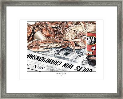 Sudden Death Framed Print by Jonathan W Brown