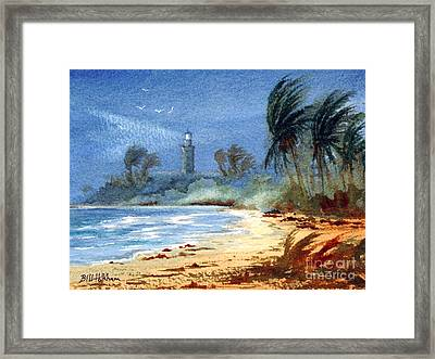 Sudden Storm Faro De Punta Tuna Framed Print by Bill Holkham