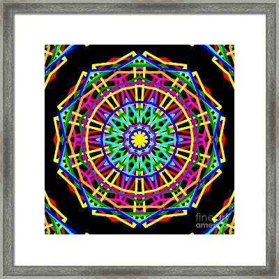 Sudoku Connections Kaleidoscope Framed Print by Ron Brown