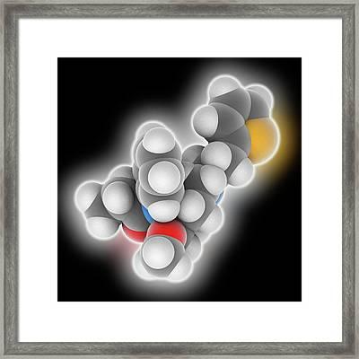 Sufentanil Drug Molecule Framed Print by Laguna Design