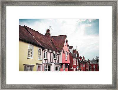 Suffolk Houses Framed Print by Tom Gowanlock