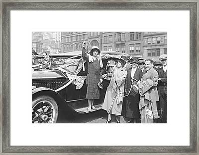 Suffragette Rosalie Jones 1924 Framed Print by Padre Art