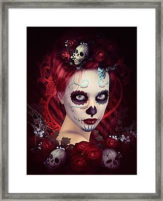 Sugar Doll Red Framed Print by Shanina Conway