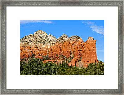 Sugar Loaf Mountain And Coffee Pot Rock Framed Print by Jan and Stoney Edwards