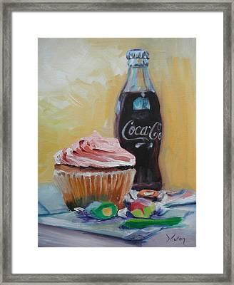 Sugar Overload Framed Print by Donna Tuten
