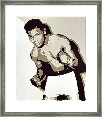 Sugar Ray Robinson Framed Print by Florian Rodarte